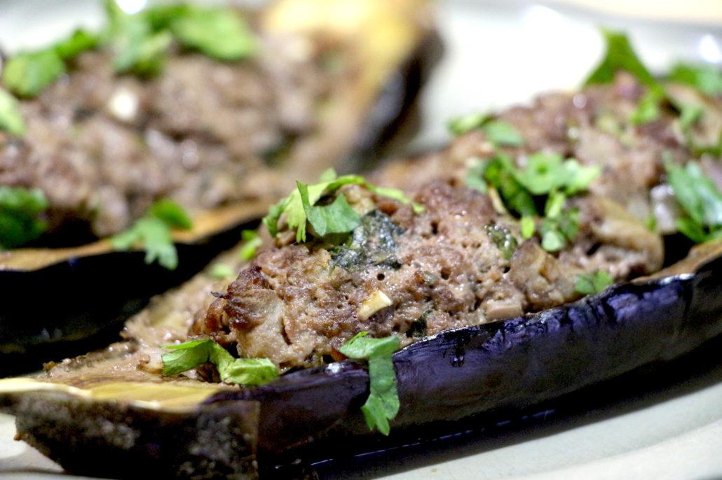 aubergines farcies au boeuf haché
