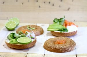 bagels au saumon