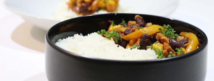 chili sin carne au soja et haricots
