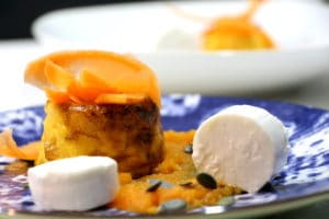 flans de carotte cumin et chèvre