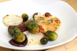 légumes rôtis au four sauce au thym