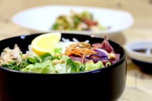salade de poulet au beurre de cacahuètes