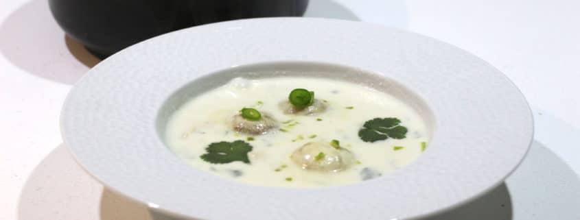 soupe thaï au poulet champignons