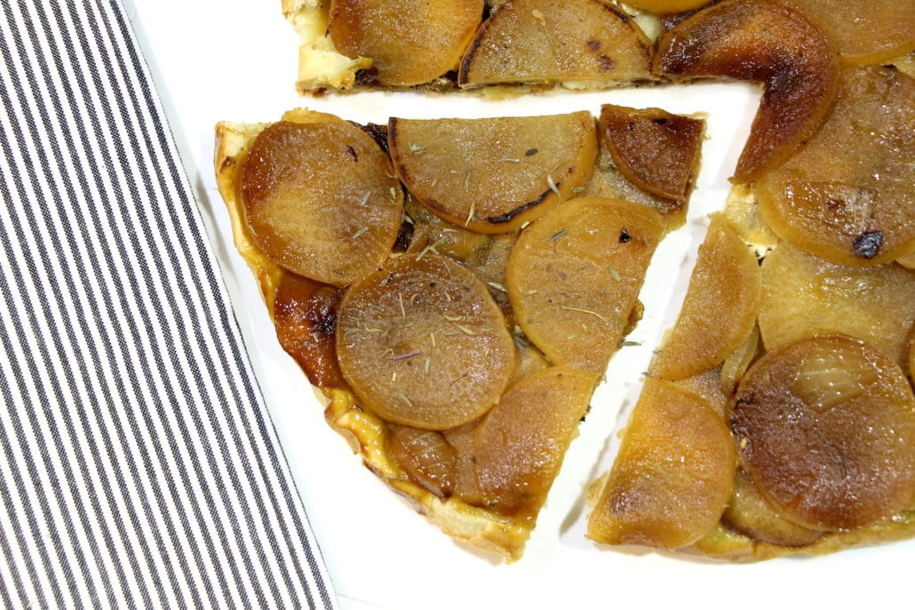tarte tatin aux navets caramélisés