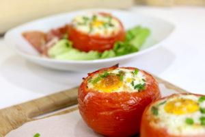 tomates façon oeufs cocotte