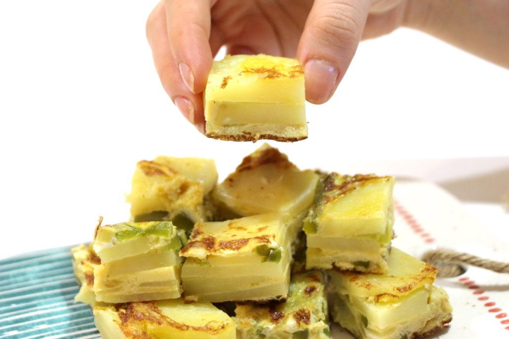 tortilla aux pommes de terre et légumes