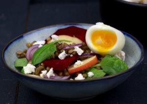 salade de lentilles à la betterave