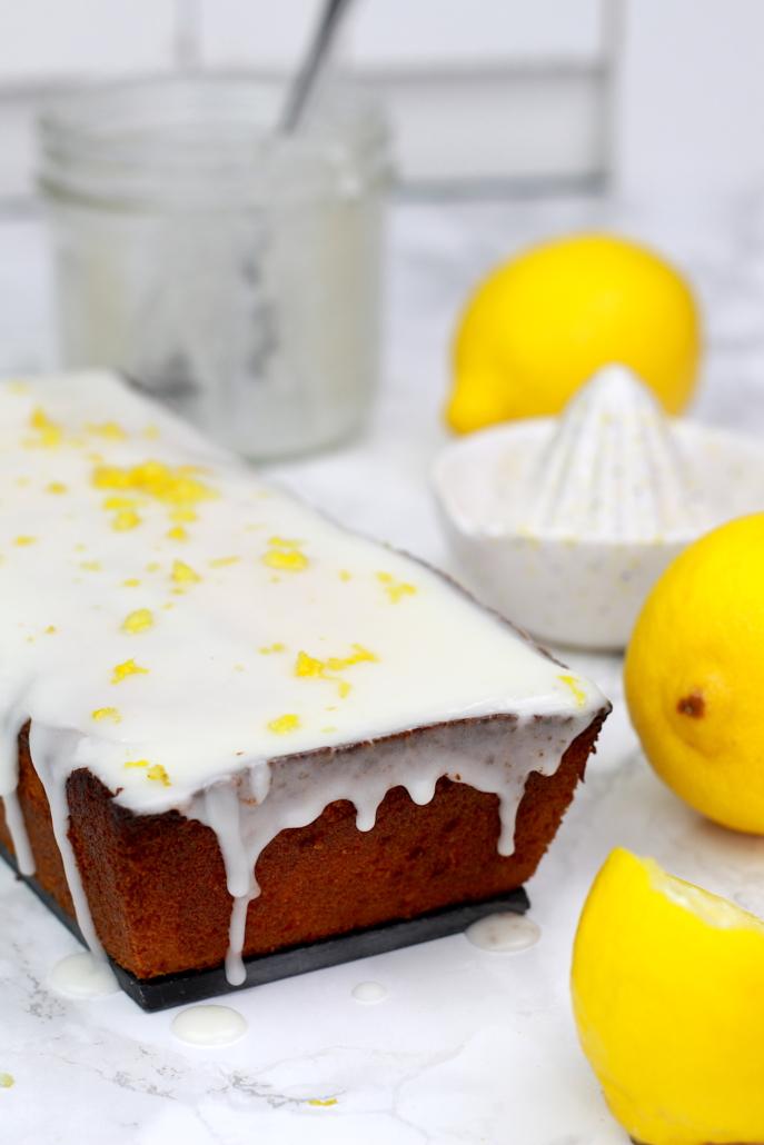 gâteau au citron jaune