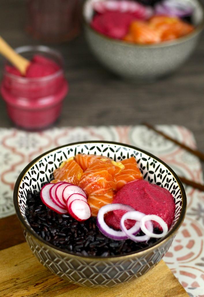 poke bowl au riz noir