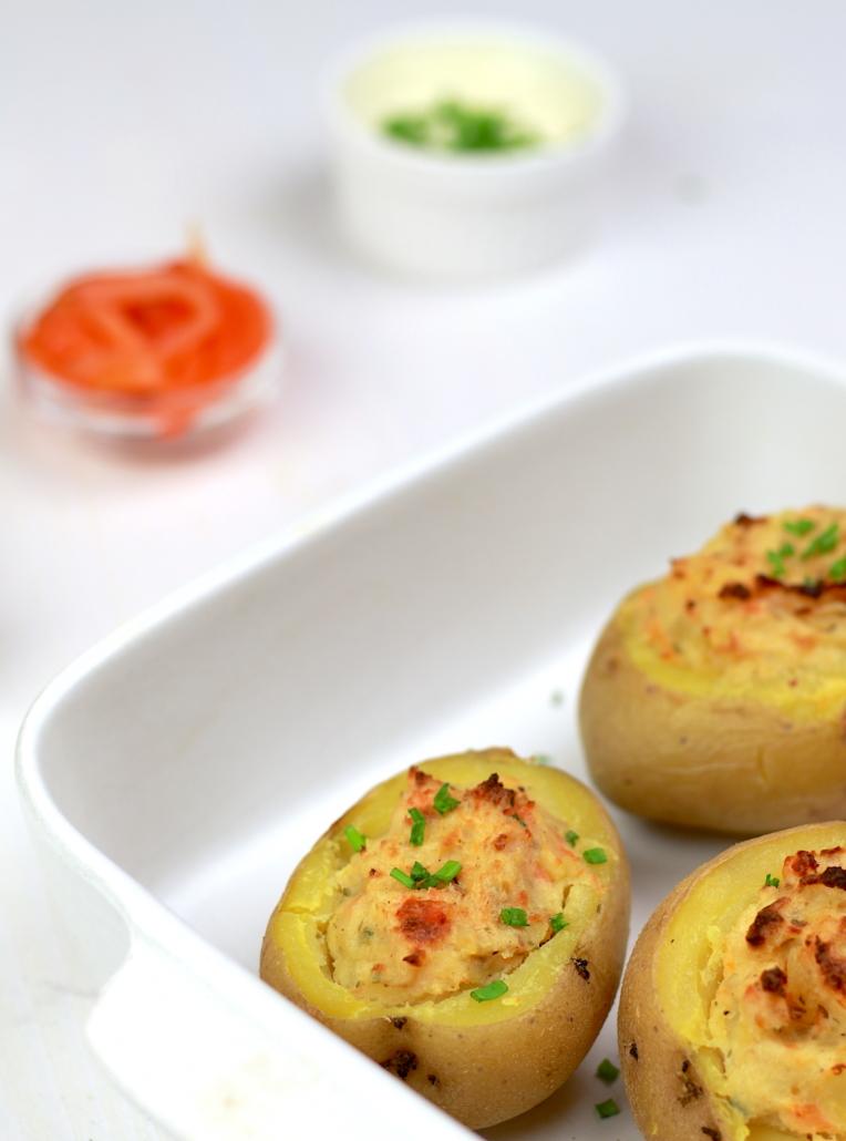 plat de pommes de terre au saumon