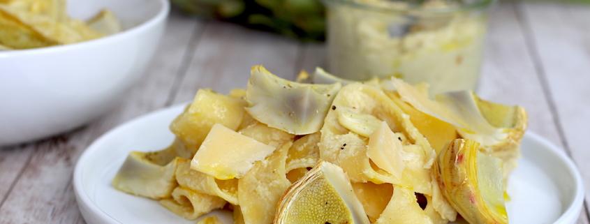 pâtes à la crème d'artichauts