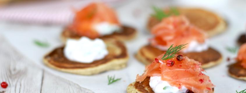 saumon gravlax et blinis maison