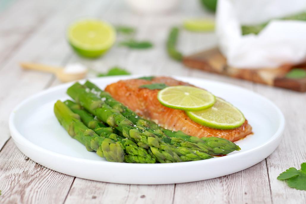 recette légère saumon asperges