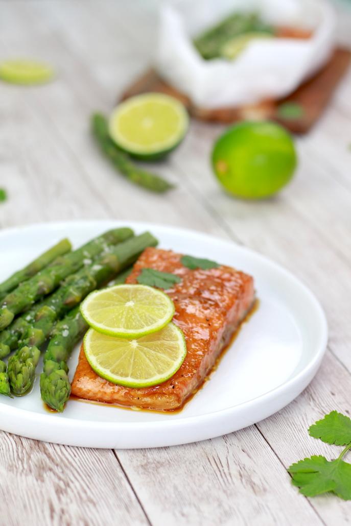 saumon confit au citron
