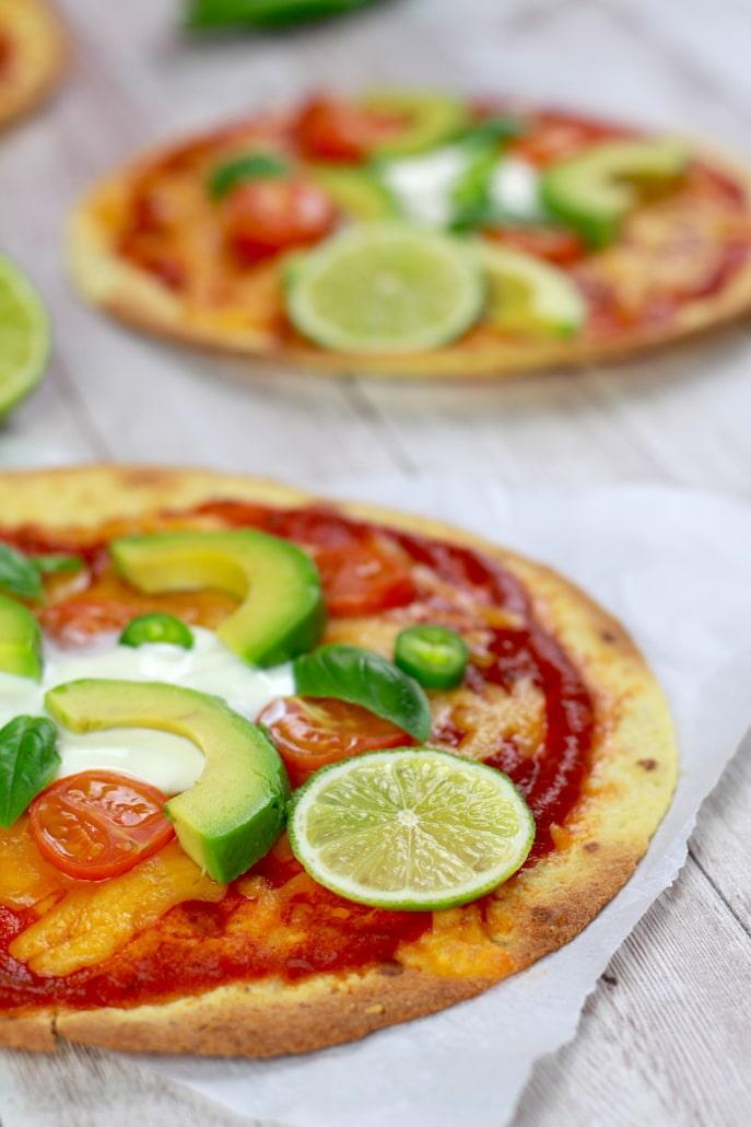 pizza light tortilla
